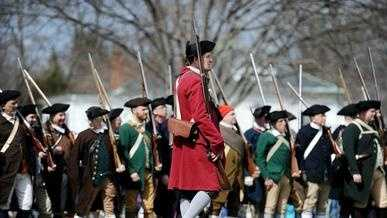 The Battle of Lexington reenactment
