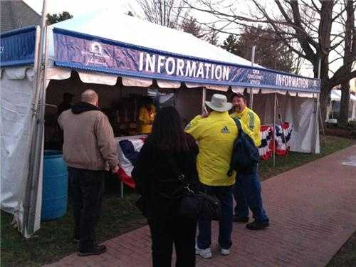 Volunteers are key as thousands come to Hopkinton to watch the marathon start.