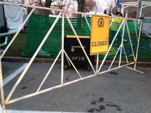 Closing roads before the marathon begins