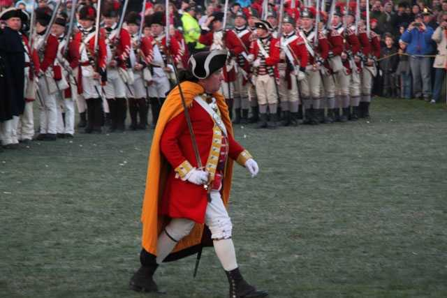 The British were under the command of Major John Pitcairn.