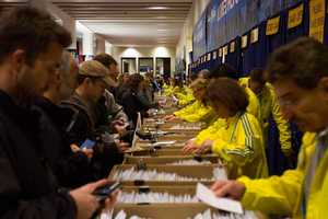 Boston Marathon Bib Number Pick-Up.
