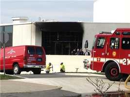 The fire at the JFK Library was unrelated to the bombings.