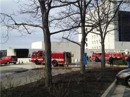 Outside the JFK Library, where authorities were concerned there had also been an explosion. It turned out to be an unrelated fire.