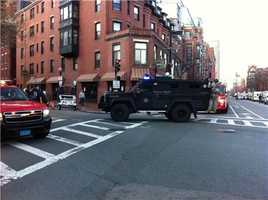 State Police Special Ops vehicle on Brookline Avenue.
