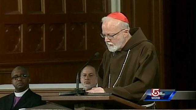 """""""Our presence here today is an act of solidarity."""" """"We are so happy the family of Krystle Campbell is here with us,"""" Cardinal Sean O'Malley, Boston Archdiocese."""