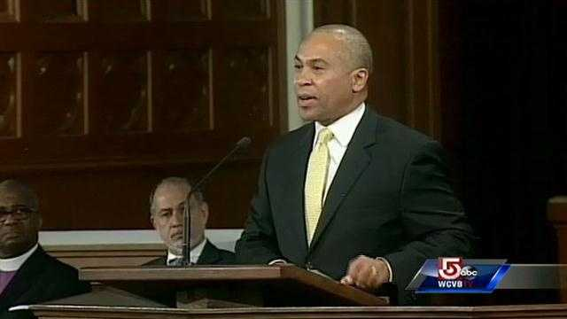 """""""I'm thankful for the police officers, EMTs, firefighters who ran toward the victims to help them,"""" Gov. Deval Patrick said."""