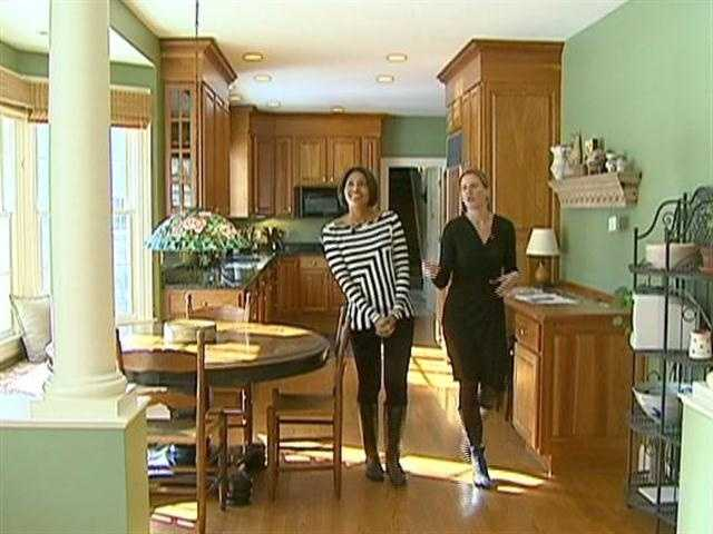Shayna and Realtor Rory Fivek tour a high end Concord home that's on the market.