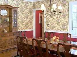 A formal space in a stately dining room