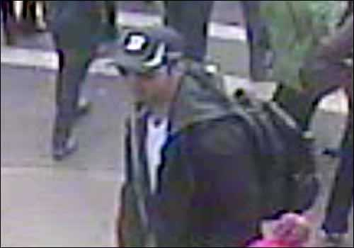 A side view of suspect 1