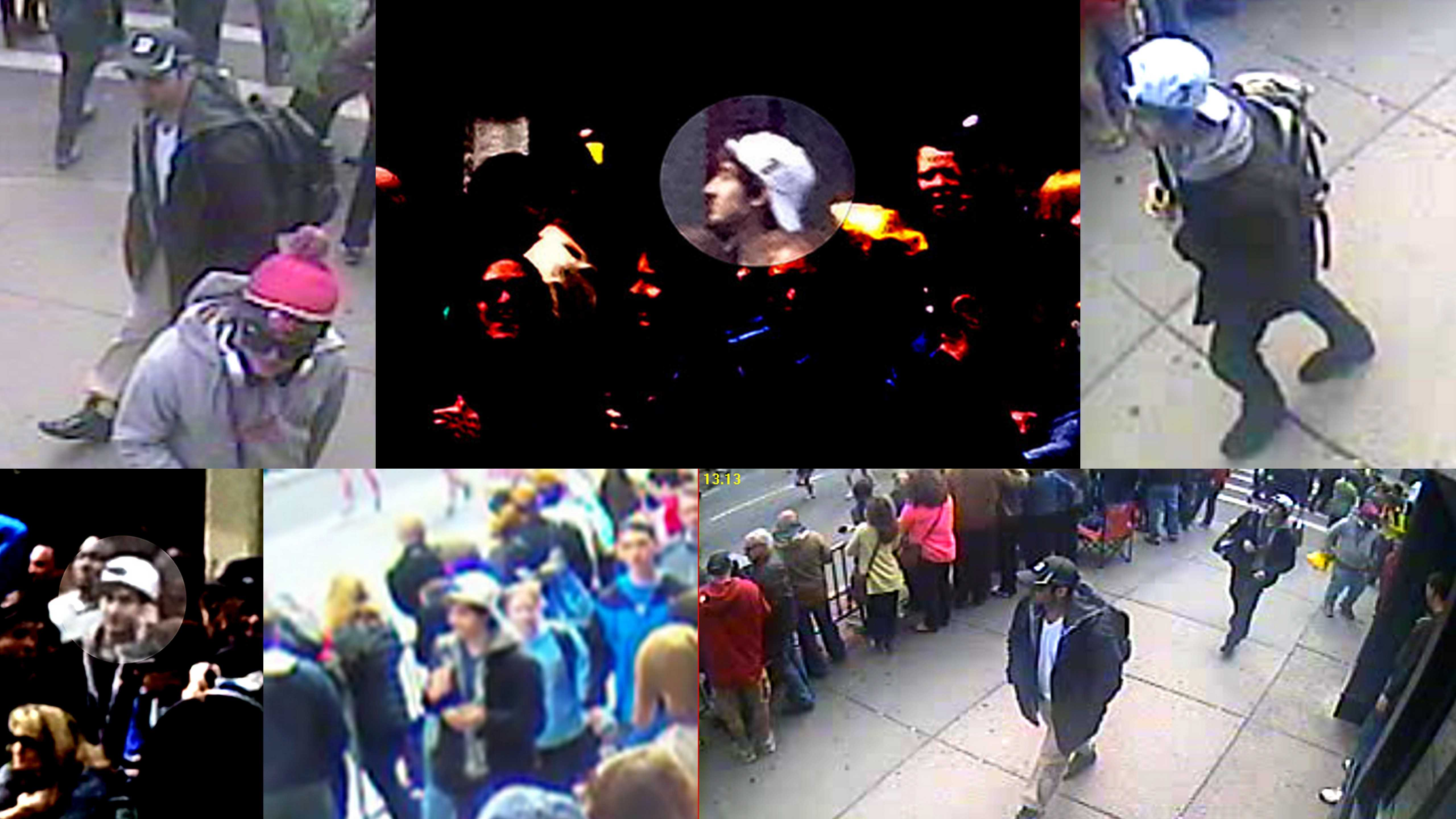 The FBI released photos and videos of two suspects in connection with the Boston Marathon bombings.