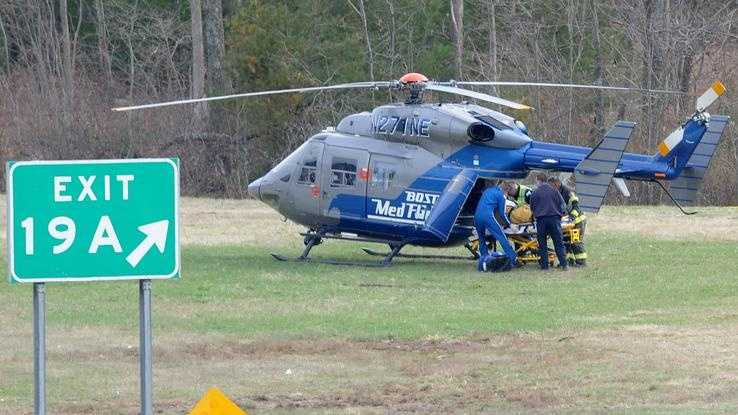 A medical helicopter was called to the scene of a serious crash along Route 24 in Avon.