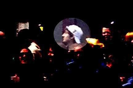 Dzhokhar is seen in this FBI surveillance photo on Boylston Street before the bombing.