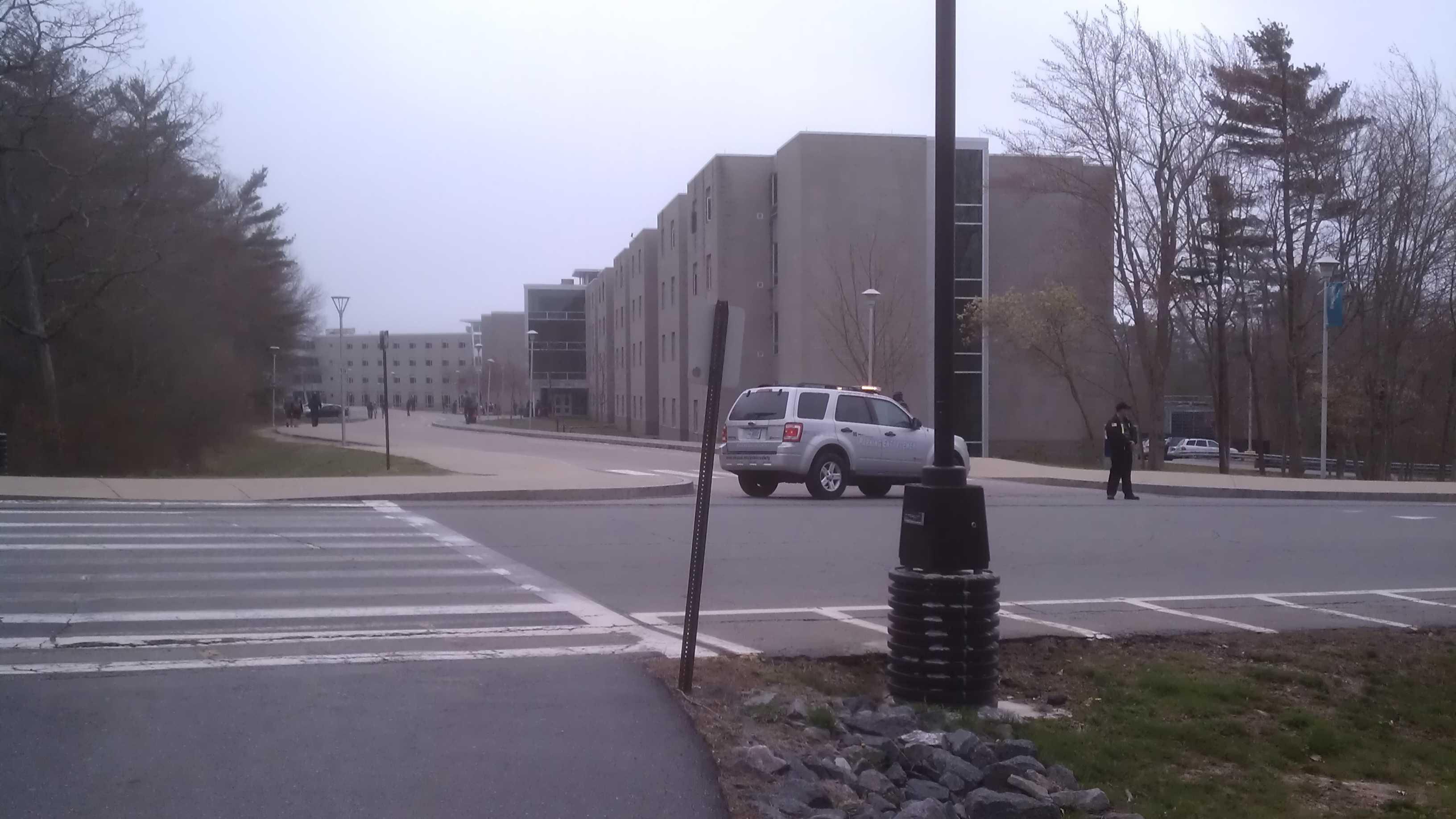 "Around 10:35 a.m., the University Of Massachusetts Dartmouth says it has closed its campus and ordered an evacuation after confirming that missing marathon bombings suspect Dzhokhar Tsarnaev is registered there. The school says it closed the campus ""out of an abundance of caution"" as the search continued."