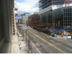 Massachusetts Avenue was quiet.