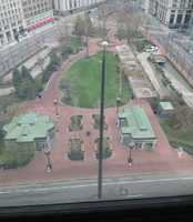 No one was out in Post Office square.