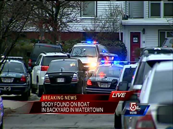Police rushed to a home along a residential street in Watertown in the early hours of April 19, 2013, after multiple shots were fired.