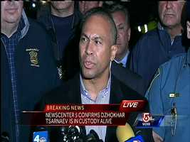 A news conference was held around 9:30 pm, with FBI, State and local officials to talk with the media about how the suspect was captured.