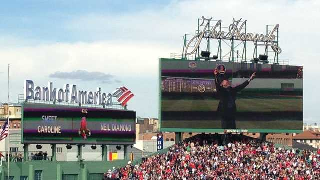 Neil Diamond later performed 'Sweet Caroline' at the top of the eighth inning.