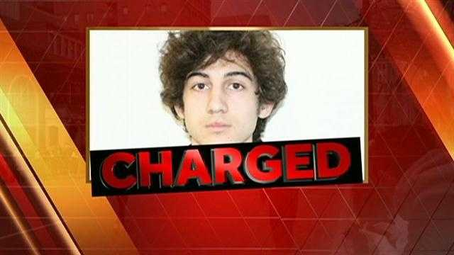 Tsarnaev charged with using weapon of mass destruction&#x3B; faces death penalty