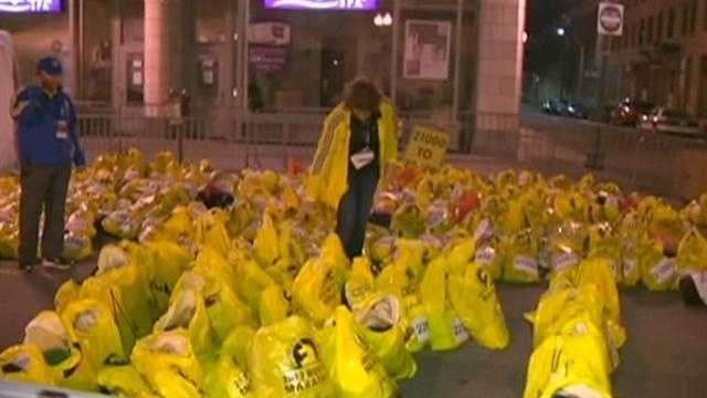 Bags left after bombings
