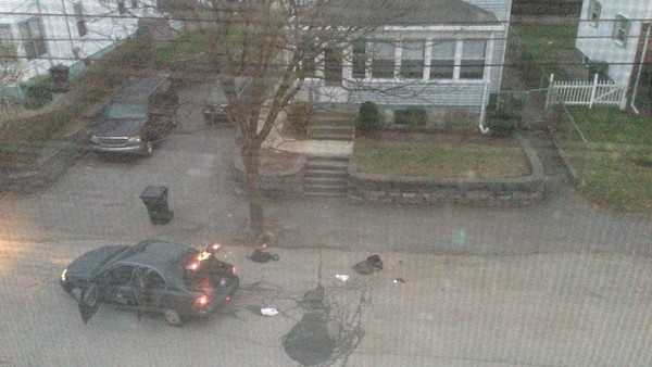 Watertown resident Andrew Kitzenberg took these pictures of the suspected Marathon bombers' shootout with police.