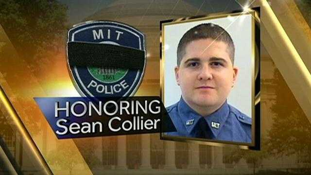 Thousands of Massachusetts Institute of Technology students, faculty and staff as well as law enforcement officials from across the nation are attending a memorial service for fallen campus police officer Sean Collier.