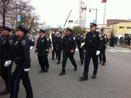 Thousands of officers are taking part in the memorial.