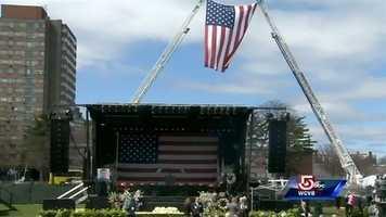 The memorial was being held at Briggs Field.