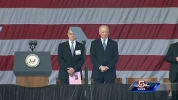 Vice President Joe Biden arrives.