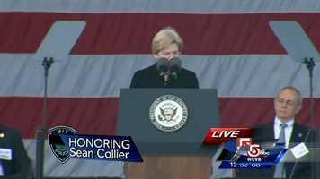 """Sen. Elizabeth Warren said, """"Today, we grieve together. We hurt together. We pray together."""""""
