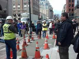 More than a week after the deadly bombings, Boylston Street reopens to the public.