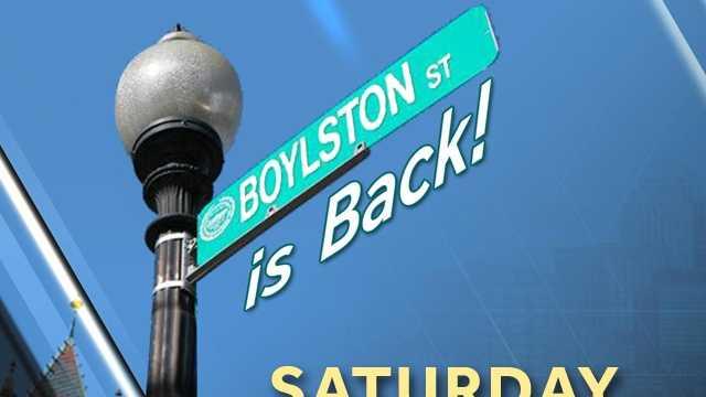 Boylston Street in Back Design Graphic