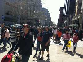 """In response to Boston city officials and a Facebook campaign called """"Boylston is Back,"""" consumers pledged to spend at least $25 at a business impacted by the attack."""