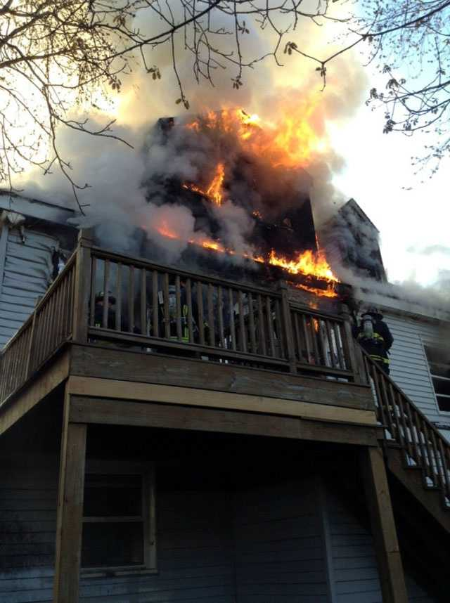 One woman was killed, and nine other residents and six Boston firefighters were injured in a fire in Allston Sunday morning.