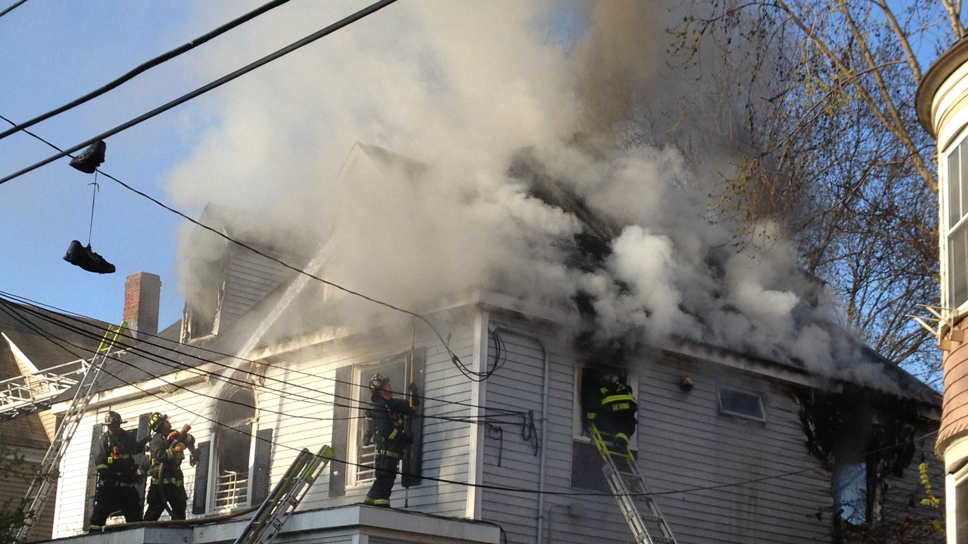 Fire officials said 18 people had been living in the house.