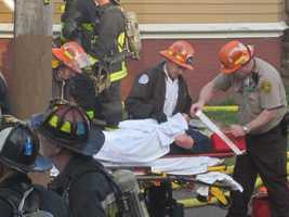 The injuries to nine residents and six firefighters were said to be not life-threatening.