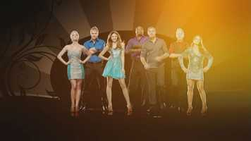"""The remaining seven stars strutted their stuff to Latin hits on Monday as part of """"Dancing With the Stars'"""" Latin dances night"""