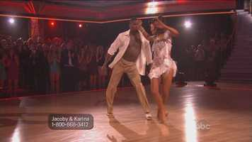 """Judges Bruno Tonioli and Carrie Ann Inaba were in agreement. Inaba drew chuckles when she told Jones, """"It's like you could fart the salsa. I mean, it's so in your body."""""""