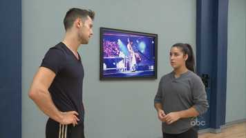 Raisman was forced to practice with a different dance partner for part of the week.