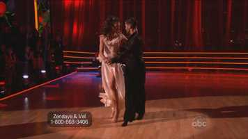 Goodman told her to lift her chin a bit, and Tonioli agreed, adding that she needed to fully extend her arms.