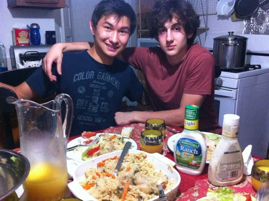 This undated photo found on the VK page of Dias Kadyrbayev shows Kadyrbayev, left, with Boston Marathon bombing suspect Dzhokhar Tsarnaev, at an unknown location.
