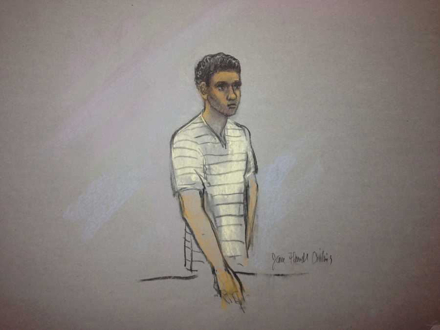 Robel Phillipos, 19, was charged with lying to investigators about the visit to Tsarnaev's room.