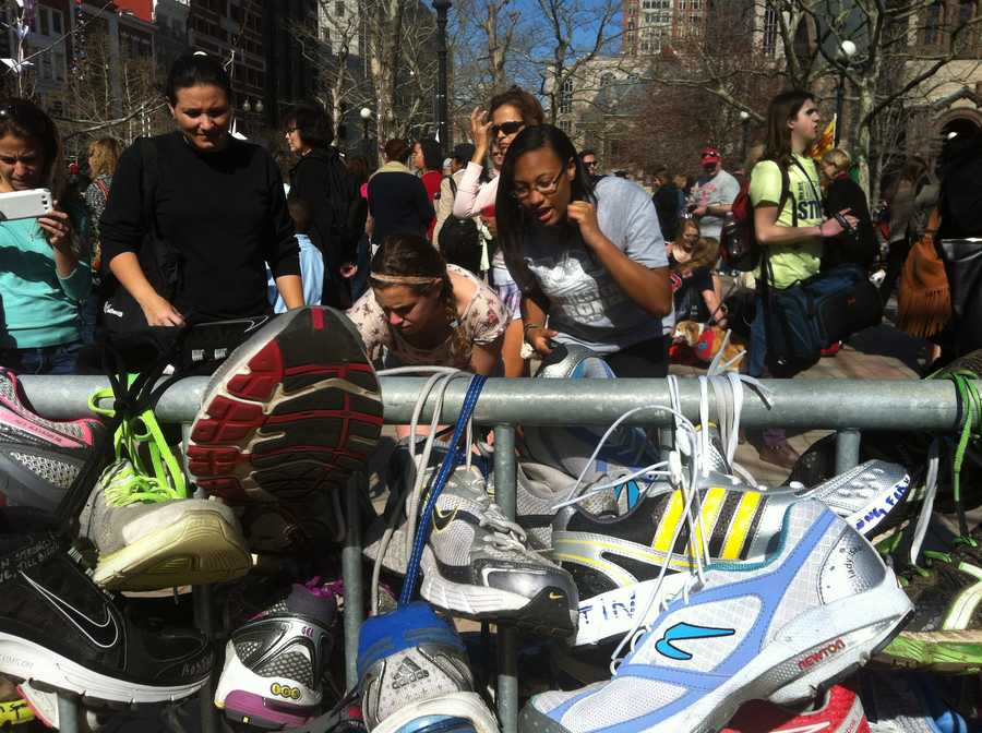 Thousands have visited the site of the Boston Marathon attacks in recent weeks.