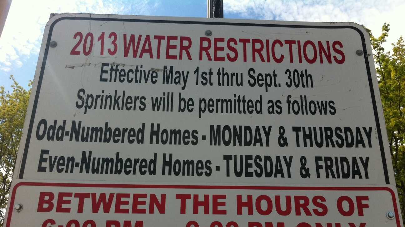 Foxboro water restrictions sign.JPG