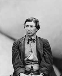 David Herold, convicted as a co-conspirator in the assassination of Abraham Lincoln, was hanged on July 7, 1865. He is buried at Congressional Cemetery in Washington, DC.