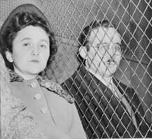 Ethel Greenglass Rosenberg and and Julius Rosenberg were U.S. citizens convicted of conspiracy to commit espionage during a time of war. They were executed in 1953. The are buried at Wellwood Cemetery in New York.