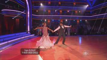 Ingo Rademacher and Kym Johnson performed the foxtrot