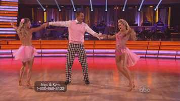 Ingo Rademacher and Kym Johnson and Lindsay Arnold performed the jive