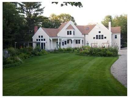 The home sits on 4 acres on private Plum Hill.