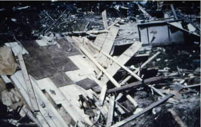At Assumption College, several campus buildings were destroyed or severely damaged by the tornado.